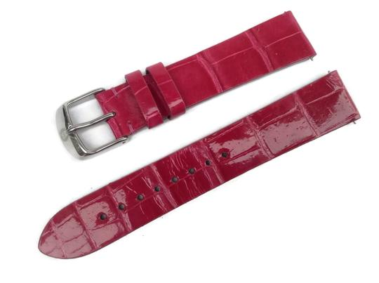 Michele Authentic Michele ALLIGATOR Hot Pink Watch Band MS18AN010650 Image 2