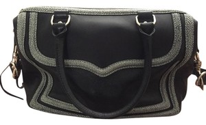 Rebecca Minkoff Mab Stingray Leather Satchel in Black/stingray
