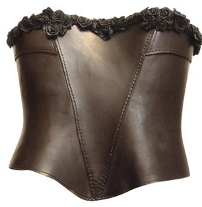 Other Roses Buckles Top Black