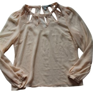 Forever 21 21 Brand New Silk Top Cream, Peach & Teal