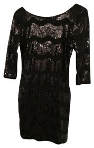 As U Wish Sequin Black Mini Vintage Inspired Dress