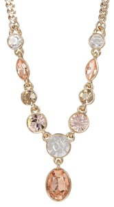 Givenchy Swarovski elements crystals, gold Tone Crystal Y shap Necklace