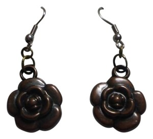 Handmade New brown rose earrings