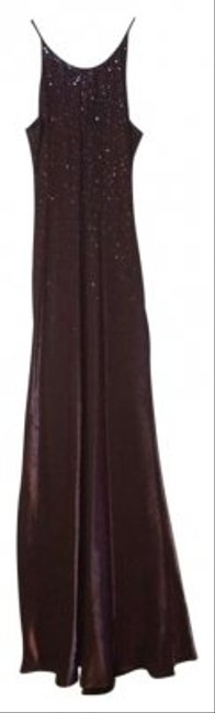 Jump Apparel Glitter Shimmer Shiney Plum Floor Full Length Dress