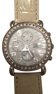Nordstrom NORDSTROM cream and rhinestone embellished watch