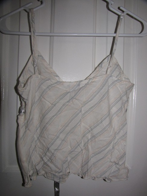 Aéropostale Top White with blue stripes