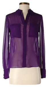 W118 by Walter Baker Longsleeve Button-front Sheer Tunic