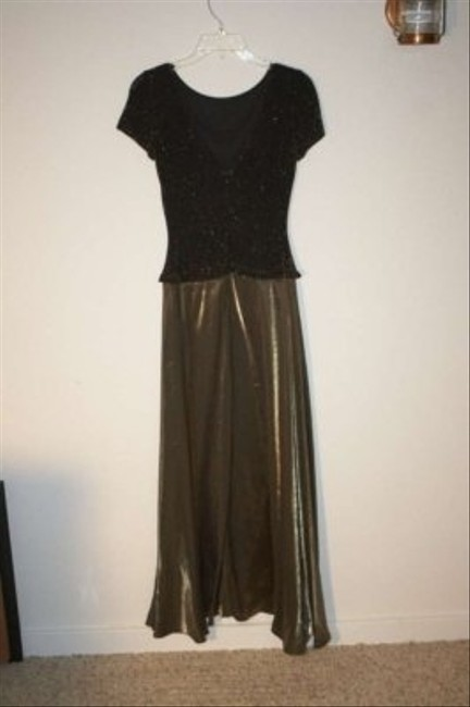 JS Collections Glitter Sparkle Shimmer Shimmery Long Full Length Floor Winter Holiday Fall Dress