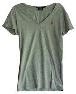 Ralph Lauren T Shirt Gray with pink horse