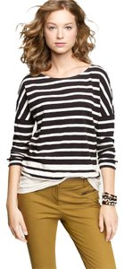 J.Crew T Shirt Black and White Stripes
