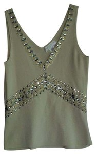 White House | Black Market Top Ivory with Gold thread/sequins