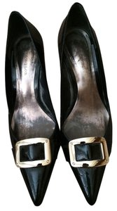 Ann Taylor Alligator Pump Black with Silver Pumps