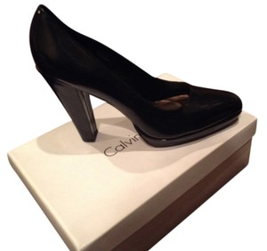 Calvin Klein Black patent leather Platforms