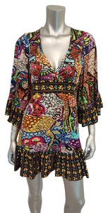 Betsey Johnson Tunic Empire Waist Abstract Dress