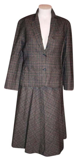 Item - Multi Color Plaid Vintage Pure Jacket 1980s Skirt Suit Size 12 (L)