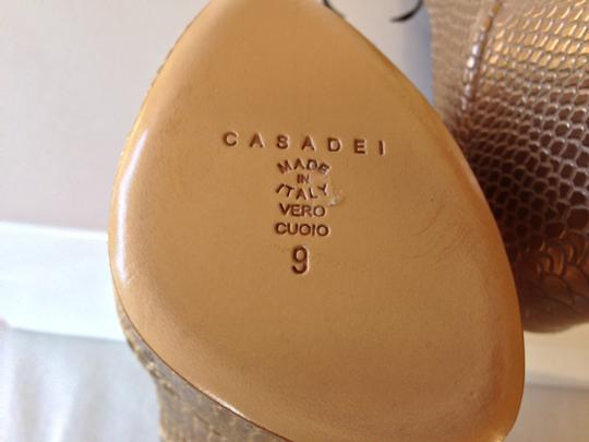 Casadei 8.5 New Gold Platforms Image 4