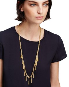 Ann Taylor Metallic Tassel Necklace