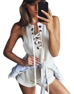 Romper Cut-out Lace-up Dress