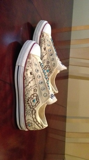 Converse white and ivory Athletic
