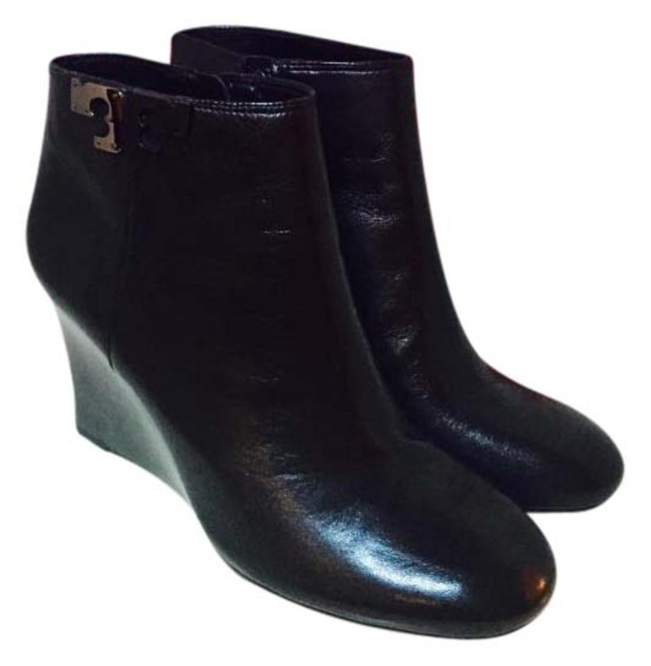 b452deeaa475 Tory Burch Black Lowell Wedge Ankle Boots Booties. Size  US 8.5 ...