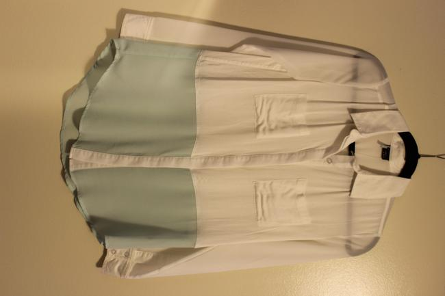 Sparkle & Fade Button Down Shirt White and Mint