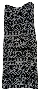 White House | Black Market Maxi Skirt Black & White