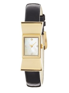 Kate Spade Kate Spade Carlyle Bow Watch in Black Patent Leather