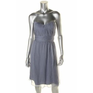 Amsale Slate Silk Formal Bridesmaid/Mob Dress Size 2 (XS)