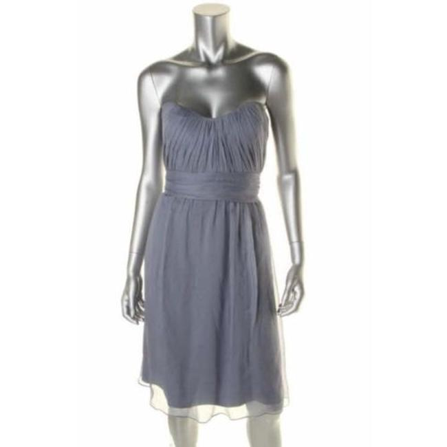 Item - Slate Silk Formal Bridesmaid/Mob Dress Size 2 (XS)