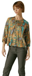 Nieves Lavi Silk Octopus Print Top