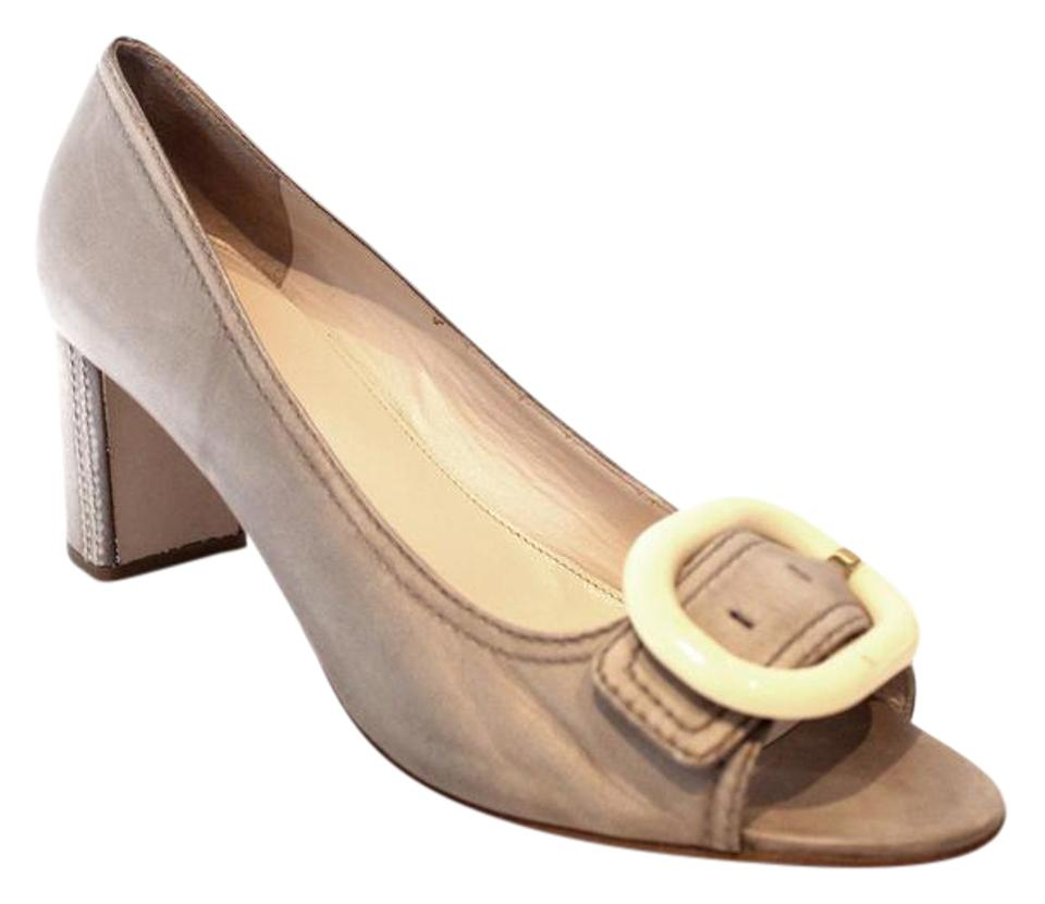 Prada Light Taupe Classic Pumps Size US 10.5 Regular (M, B)