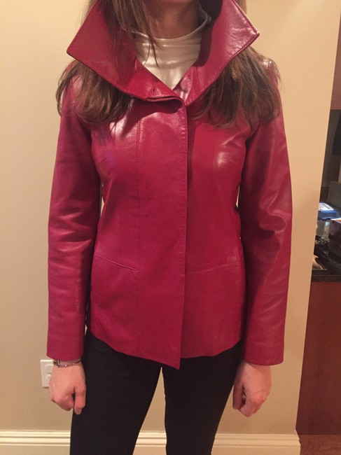 Cole Haan Red Leather Jacket