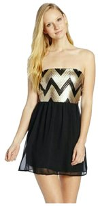 My Michelle Chevron Sequin Dress