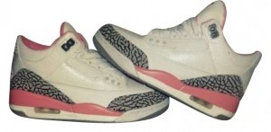 Air Jordan Grey Cement, White & Pink Athletic