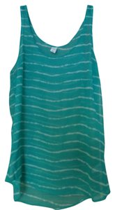 Old Navy Top Green & White