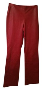 T Tahari Straight Pants Red