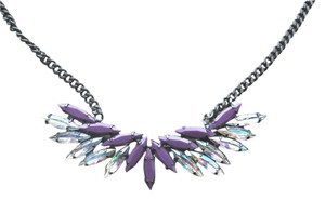 BCBGMAXAZRIA BCBG Max Azria Necklace Purple Multicolored crystals