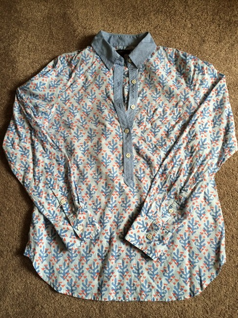 J.Crew Button Up Button Down Shirt Blue