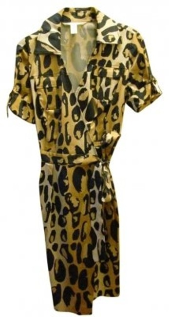 Diane von Furstenberg Dvf Wrap Cheatah Print Dress