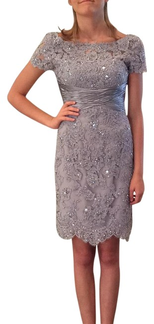 Item - Silver 21204 Above Knee Formal Dress Size 2 (XS)
