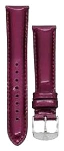 Michele Michele MS16AA050649 Women's 16mm Berry Genuine Patent Leather Watch Strap Band Deco CSX NEW! $80