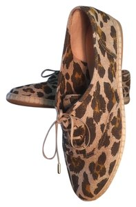 Charlotte Olympia Brown/Tan Animal print Flats