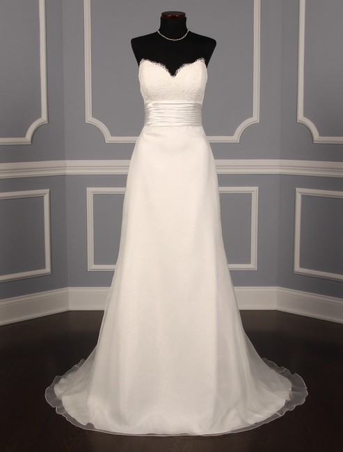 Anne Barge Pearl (Light Ivory) Organza and Alencon Lace Swansea Formal Wedding Dress Size 0 (XS) Anne Barge Pearl (Light Ivory) Organza and Alencon Lace Swansea Formal Wedding Dress Size 0 (XS) Image 2