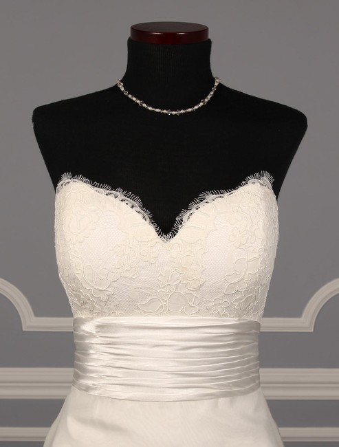 Anne Barge Pearl (Light Ivory) Organza and Alencon Lace Swansea Formal Wedding Dress Size 0 (XS) Anne Barge Pearl (Light Ivory) Organza and Alencon Lace Swansea Formal Wedding Dress Size 0 (XS) Image 3