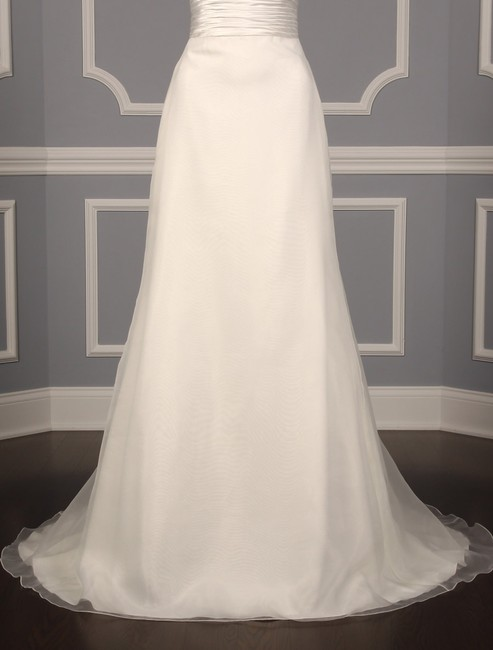 Anne Barge Pearl (Light Ivory) Organza and Alencon Lace Swansea Formal Wedding Dress Size 0 (XS) Anne Barge Pearl (Light Ivory) Organza and Alencon Lace Swansea Formal Wedding Dress Size 0 (XS) Image 4