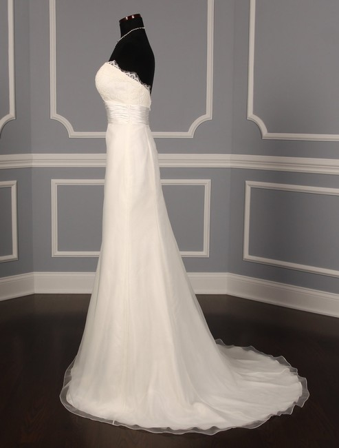 Anne Barge Pearl (Light Ivory) Organza and Alencon Lace Swansea Formal Wedding Dress Size 0 (XS) Anne Barge Pearl (Light Ivory) Organza and Alencon Lace Swansea Formal Wedding Dress Size 0 (XS) Image 5