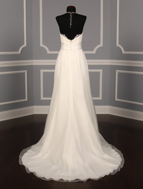 Anne Barge Pearl (Light Ivory) Organza and Alencon Lace Swansea Formal Wedding Dress Size 0 (XS) Anne Barge Pearl (Light Ivory) Organza and Alencon Lace Swansea Formal Wedding Dress Size 0 (XS) Image 8