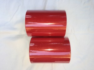 Two Rolls Of 6 In X 100 Yards Red Tulle.