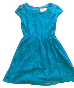 Coincidence & Chance short dress blue Summer Teal Lace on Tradesy