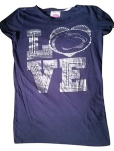 PINK Penn State Psu Nittany Lion T Shirt Blue
